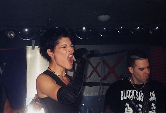 Veronica Singing With her Band