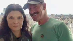 Veronica Posing with her Husband