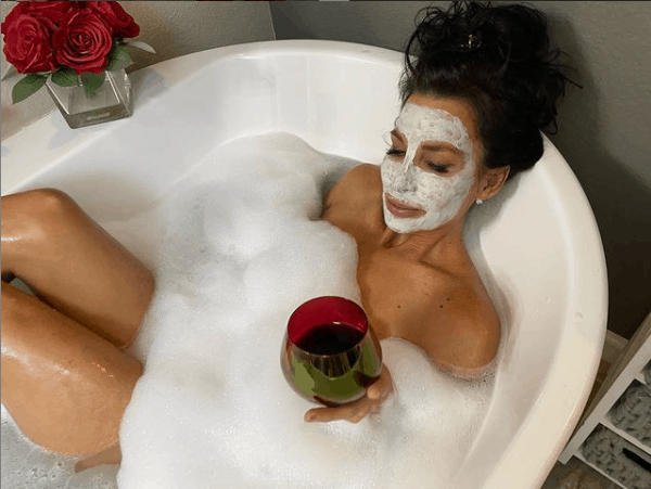 Shannon Ray Chilling in Her Bathtub with Some Wine