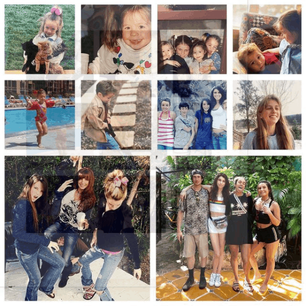 Collage of Shannon Ray with Her Children