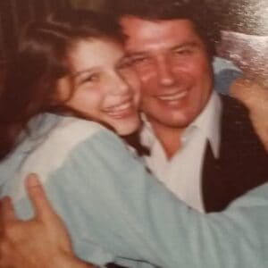 Veronica with her Late Father