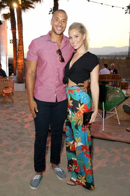 Kristine Leahy is pictured with Aaron Hines.