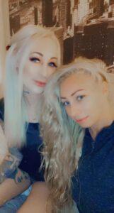Jenna Shea with her friend.