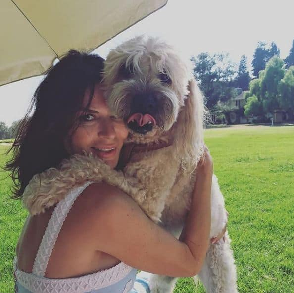 Sonia Montejano with her pet Lola.