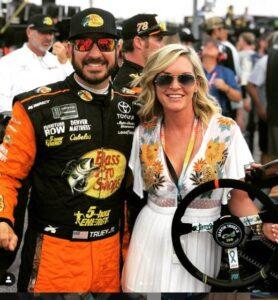Pollex posing with her boyfriend NASCAR champion Martin Truex Jr.