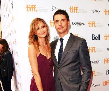 Sophie Dymoke with her husband Matthew Goode