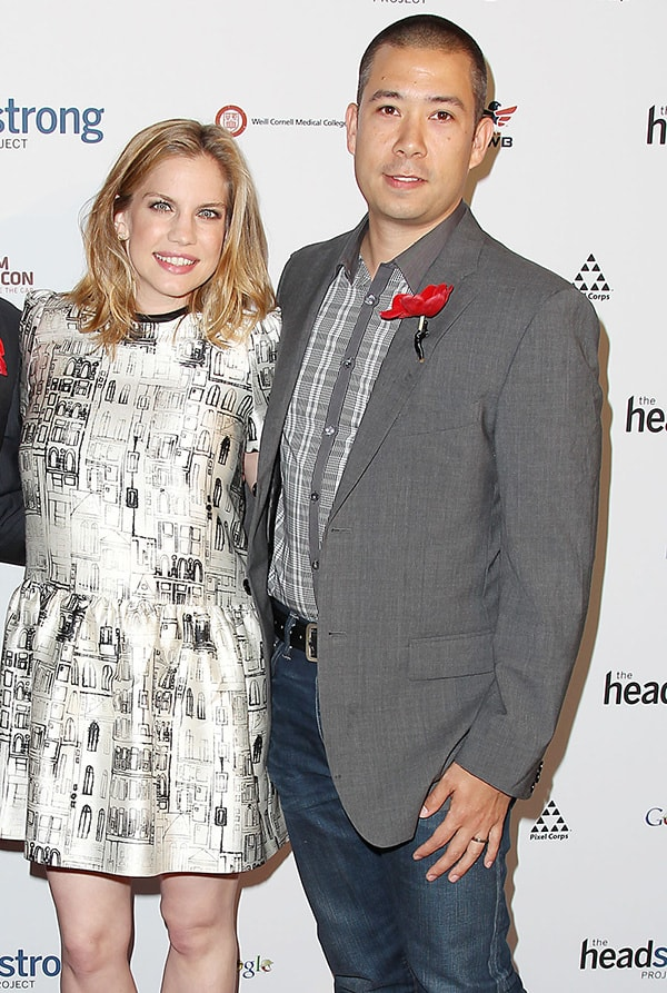 Anna Chlumsky and Shaun So in an event.