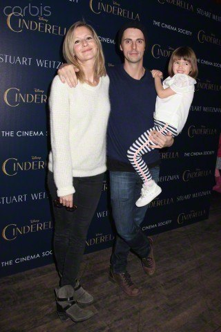 Sophie Dymoke with her husband and daughter