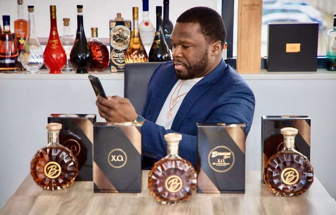50 Cent with his Brand