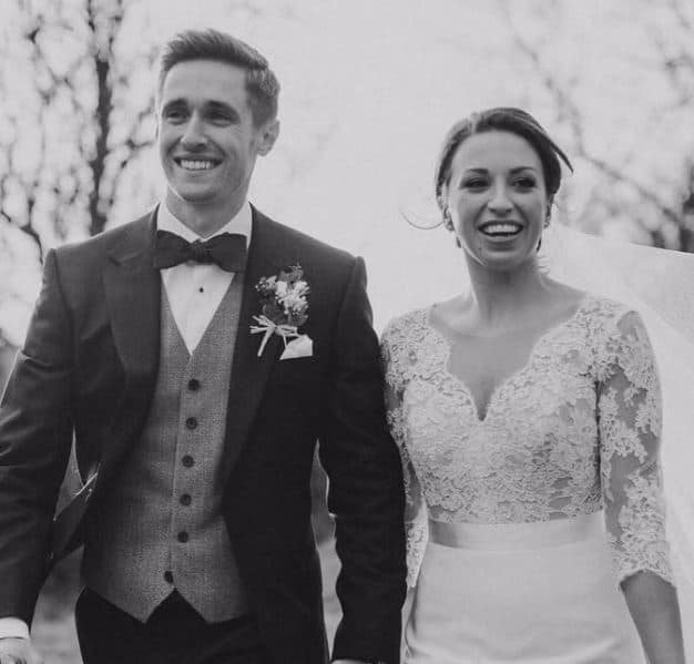 Chris Woakes With his Wife