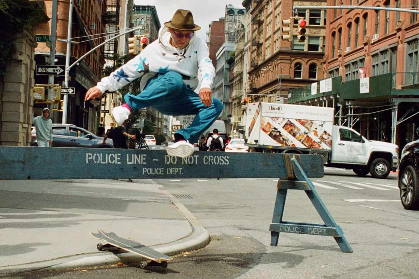Mark Gonzales playing Skateboard.