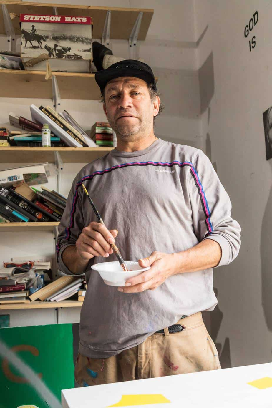 Mark Gonzales photoshoot for the GQ magazine.