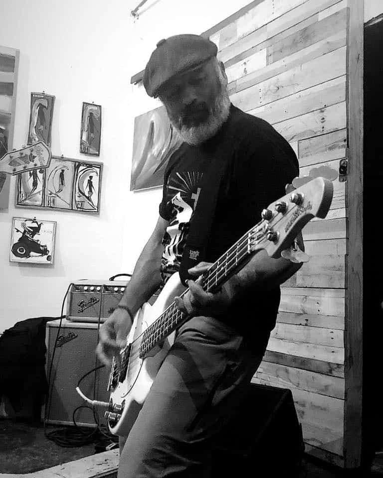 caballero playing the bass