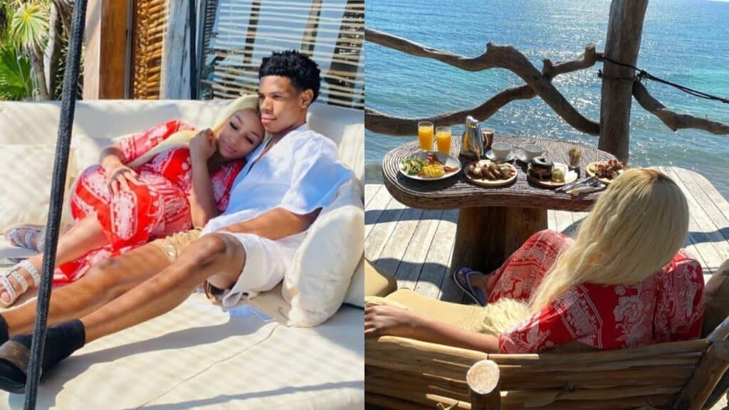 A Boogie Wit Da Hoodie on vacation with his girlfriend for her birthday in Mexico
