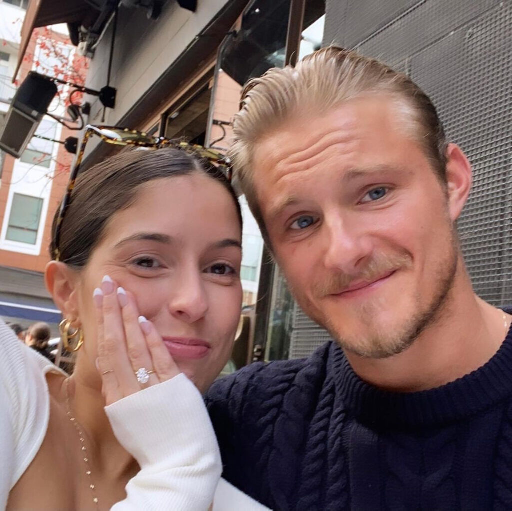 Alexander Ludwig with his wife (taken from his Instagram handle)