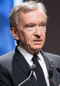 Bernard Arnault speaks in a programme