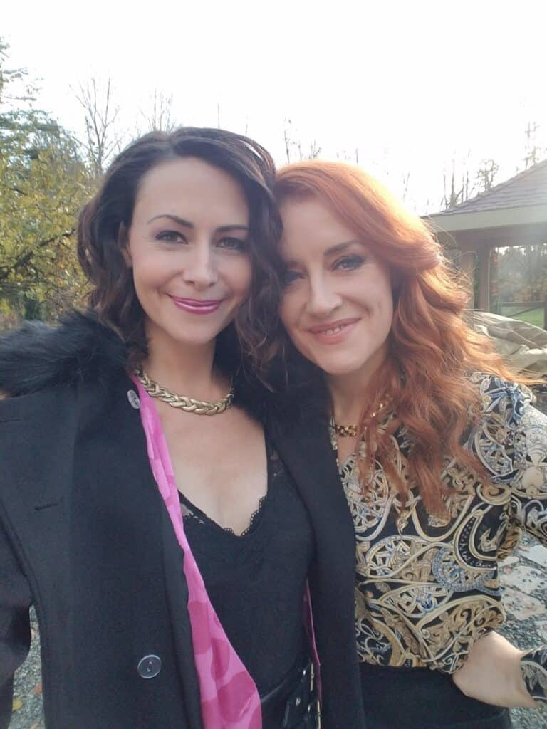 Pauline Egan with co-star Joahannah
