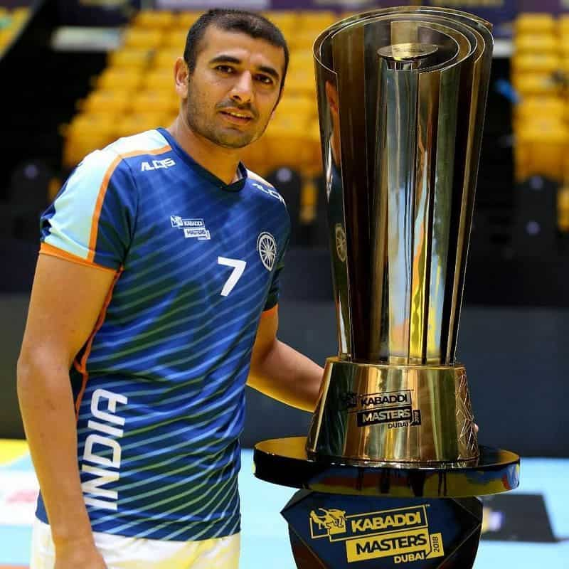 Ajay Thakur with trophy