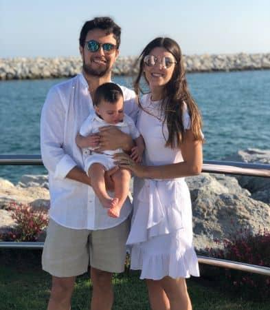 Sergio Perez with his Family