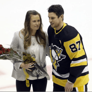 Hockey Player with his girlfriend
