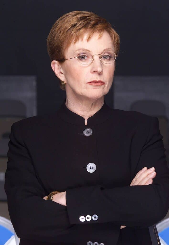 Anne in the set of The Weakest Link.