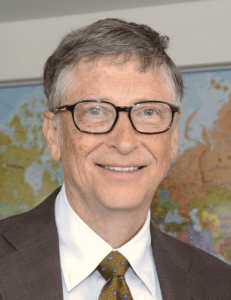Bill Gates poses for a photo