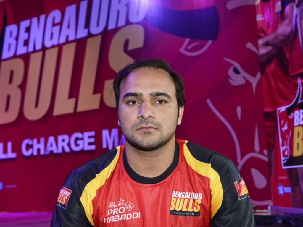 Manjeet on Jersey Of Bengaluru Bulls