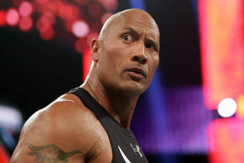 The Rock posing his iconic Pose
