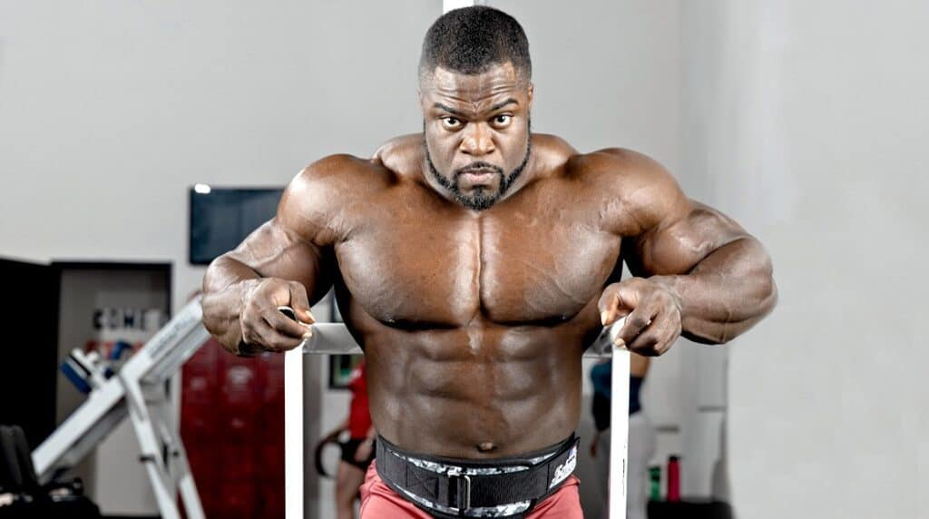Brandon Curry was photographed in a gym.