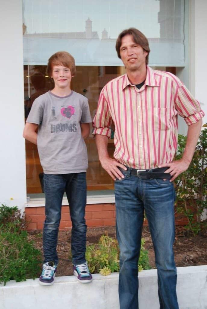 Dietmar Mogenburg with his son Jonas.