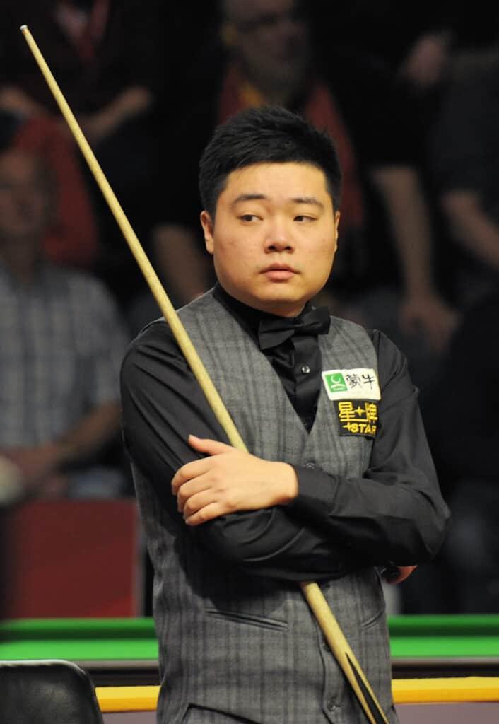 Ding Junhui during a game