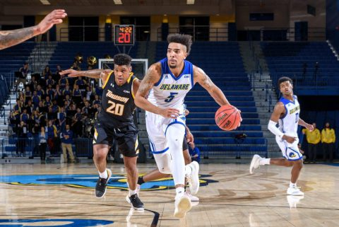 Eric Carter playing for Delaware Blue Hens
