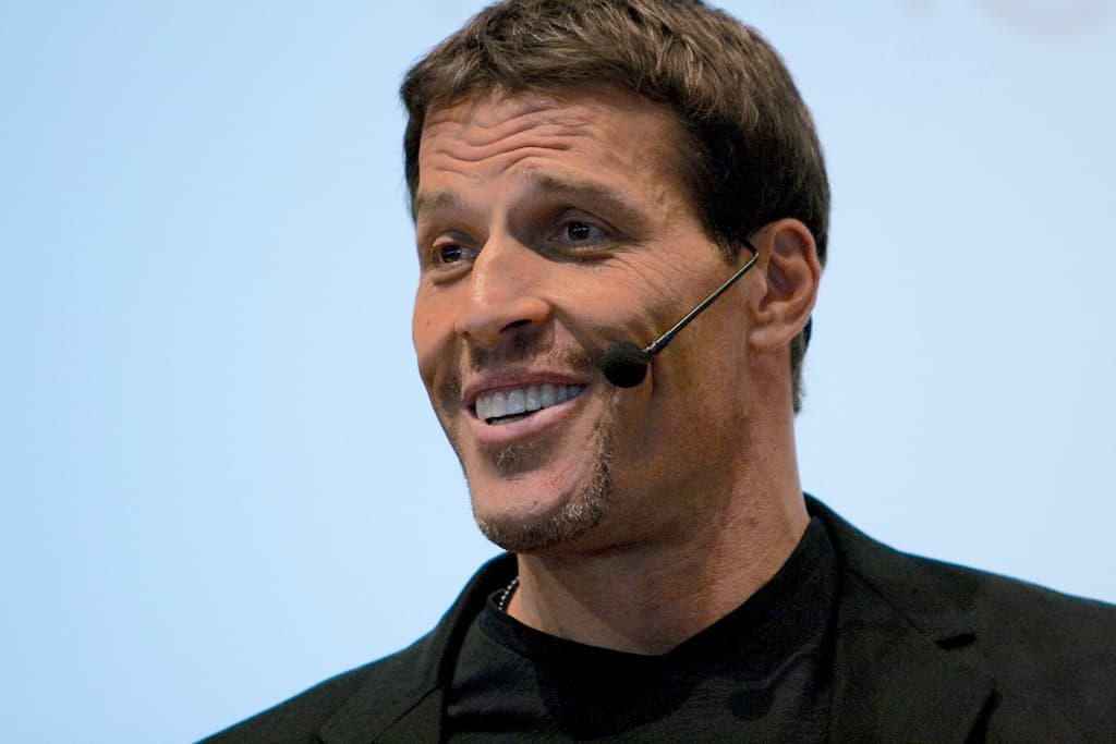 Tony Robbins, one of the top motivational speakers