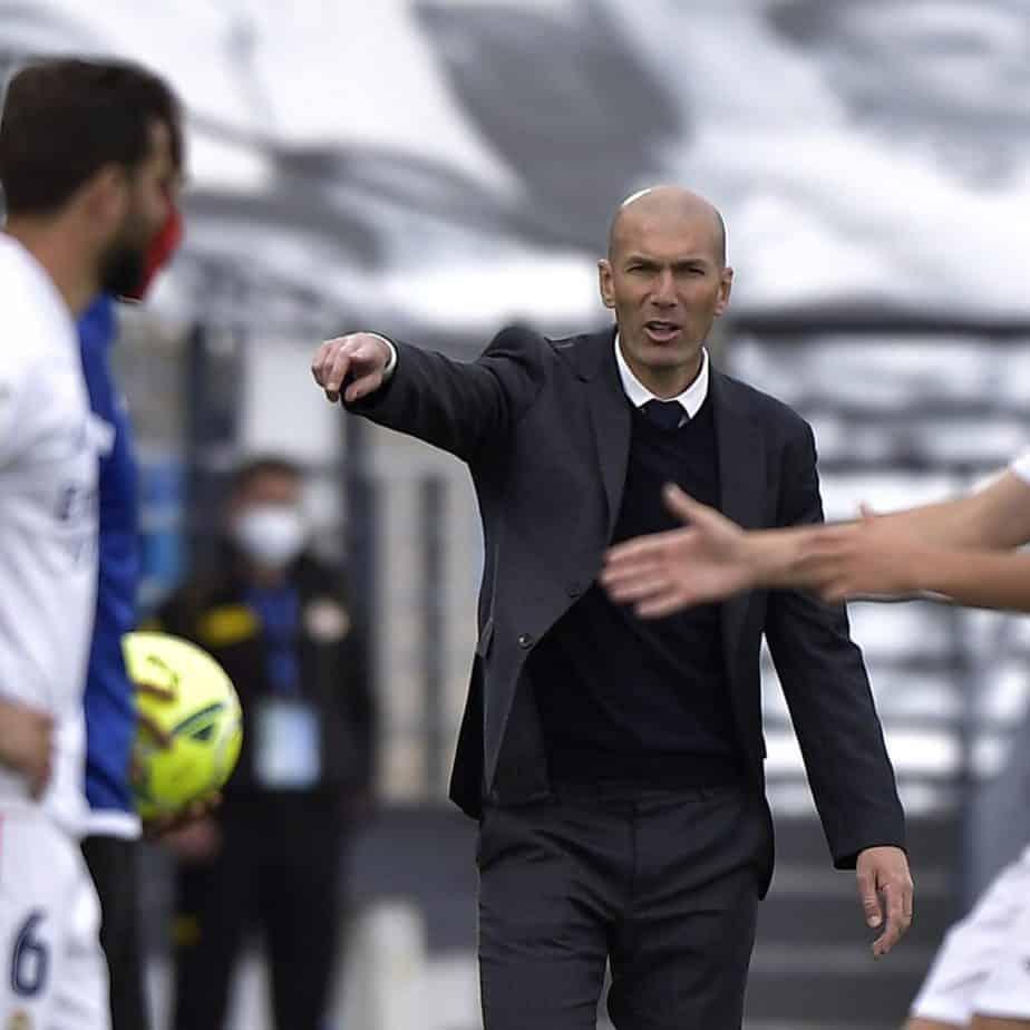 Zinedine Zidane during a game