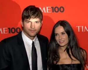 Ashton Kutcher with his ex wife Demi Moore, from the Time 100 Gala.