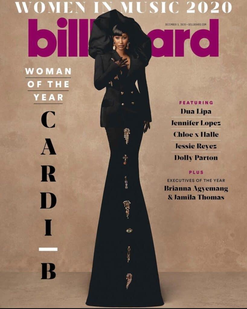 Cardi B on the Billboard magazine cover