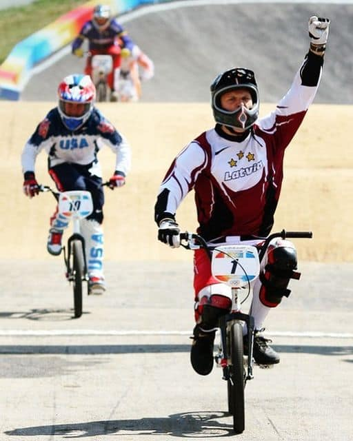 Maris Strombergs wins First BMX Olympic Championship