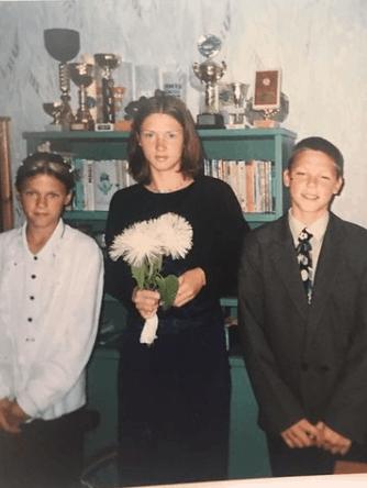 Maris with his sisters Ilze and Vita