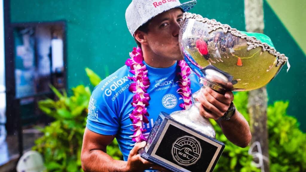 Adriano De Souza with his cup