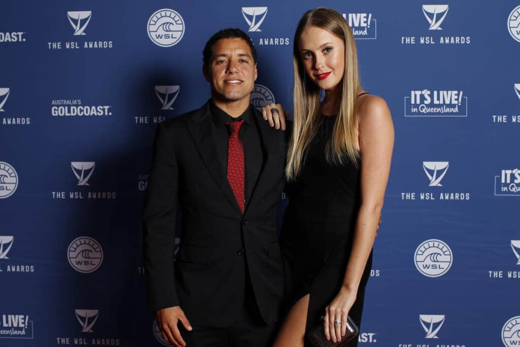 Adriano De Souza with his wife at an Event