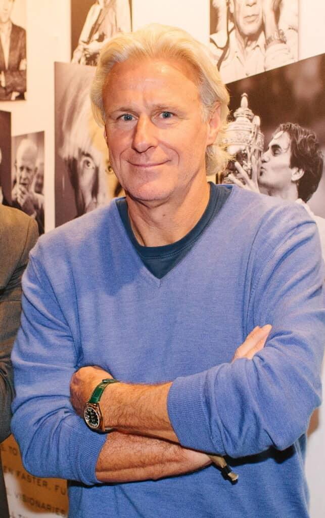 Bjorn Borg posing for a camera.