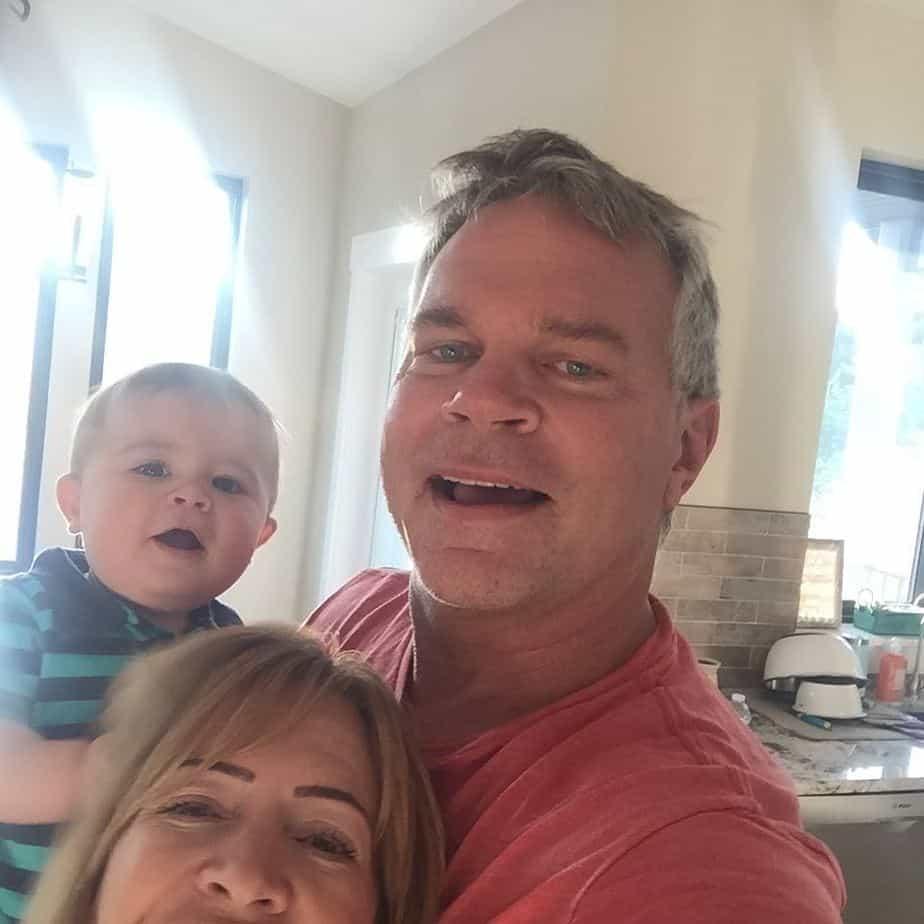 John Brzenk with his family