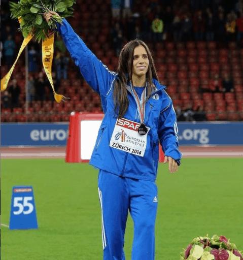 Katerina Stefanidi during 2014 European Athletics in Zurich.