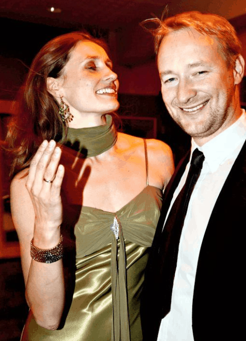 Kjetil Andr Aamodt with his wife