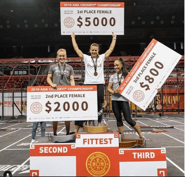 Kristin-Holte-after-winning-Asian-CrossFit-in-2019.