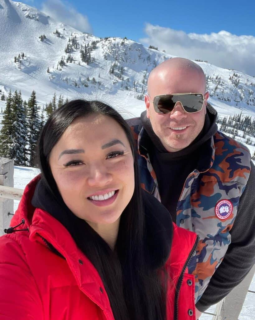 A glimpse from SASVlogs in the mountains. SAS with her husband.