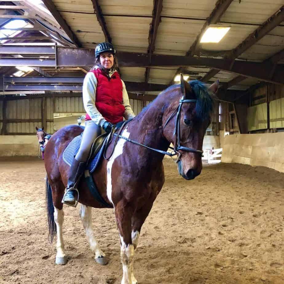 Shannon Pattypiece enjoying horse riding.