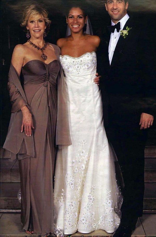 Jane Fonda, at the wedding of Simone and Troy.
