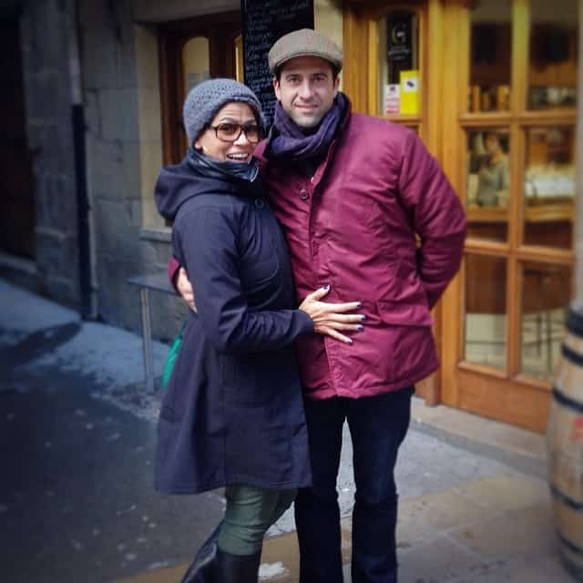 Troy Garity posted the picture with wife, Simon Bent on Instagram on 14th Feb, 2014.
