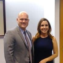 Sara Carter with her husband Martin Bailey
